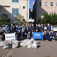 小松市中央浄化センター周辺の清掃を行いました