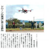 富山新聞で「ドローンで農薬散布」の見出しで掲載されました